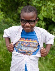 @@ Funny boy Superman with glasses