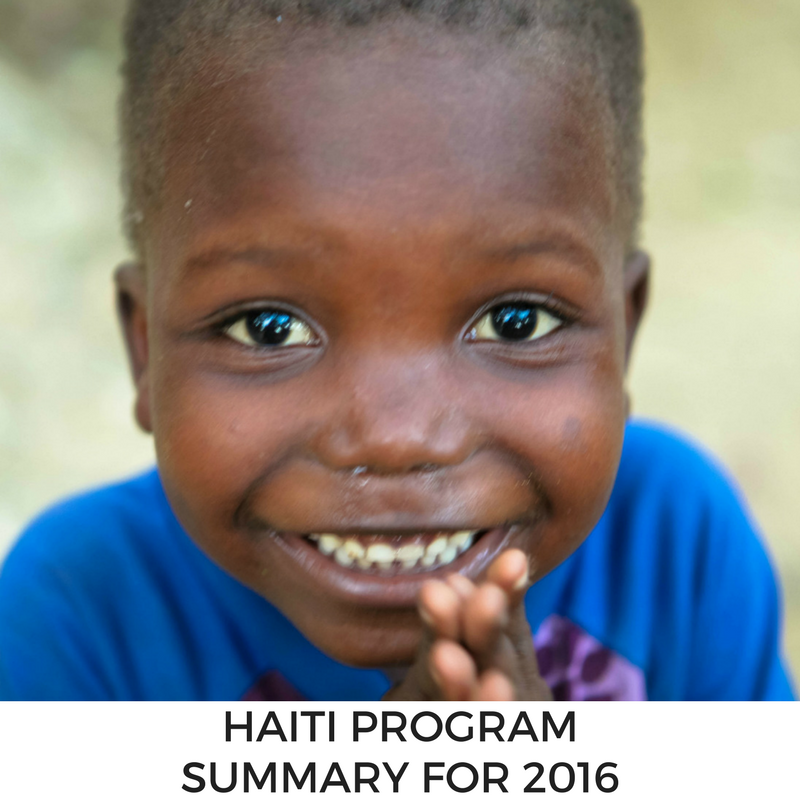 Haiti Program Summary for 2016