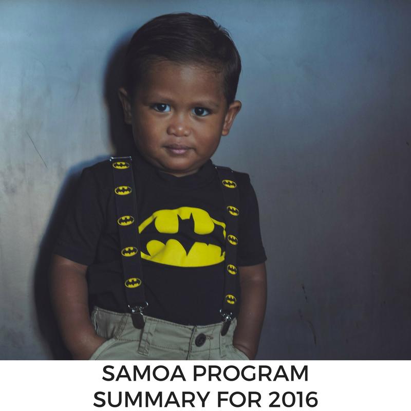 Samoa Program Summary for 2016