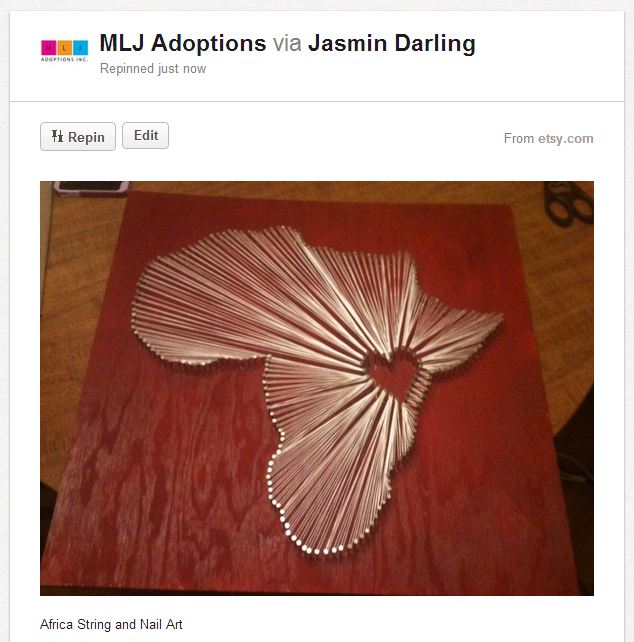 Fundraising Crafts Nail And String Art
