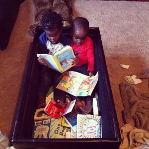 sibblings - reading - book